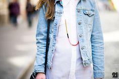 Girl wearing BLK DNM jacket