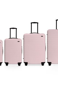 Luggage and Travel Gear Archives - Free Travel News - Away x Pop & Suki Suitcases Are Probably The Chicest Luggage You've Ever Seen Luggage & Travel Ge - Pink Suitcase, Pink Luggage, Cute Luggage, Best Luggage, Vintage Luggage, Carry On Luggage, Luggage Sets, Travel Luggage, Travel Bags