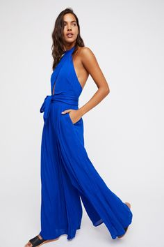 64169c62a03 Endless Summer Tidal Wave Kissing Sunlight Jumpsuit at Free People Clothing  Boutique Kissing