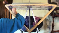 Continuous Strand Weaving On A Triangle Loom (part 2 of 3)