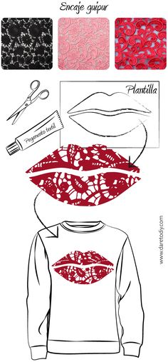 Dare to DIY: DIY IDEA: Lips Lace