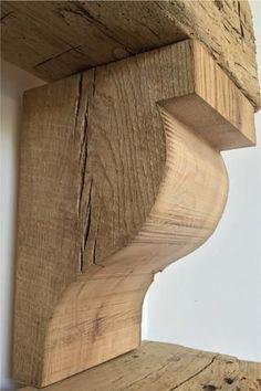 Reclaimed Barn Wood Rough Sawn Corbels - Regal Selber Bauen Wooden Corbels, Wooden Doors, American Barn, Barn Wood Projects, Reclaimed Barn Wood, Rustic Wood, Fireplace Design, Wood Fireplace, Brick Fireplaces