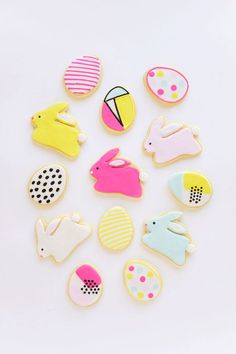 Bright and Modern Easter Cookies