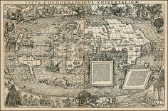 Map of the world, 1537.