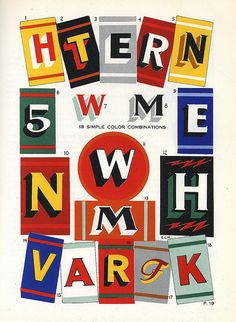 Sign Painting Course by E.C. Matthews, 1954   2, 10, 12