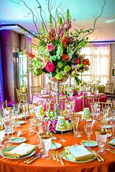 Vibrant early autumn table inspiration + floral arrangement