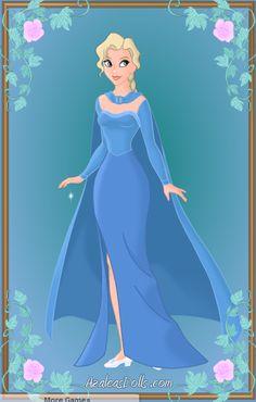 Elsa the Snow Queen Frozen Queen, Queen Elsa, Green Homecoming Dresses, Blue Dresses, Azalea Dress Up, Dress Up Dolls, Snow Queen, Disney Cartoons, Cinderella