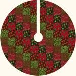 Christmas Tree Skirt tutorial by Forest Quilting. Also have paper piecing free patterns