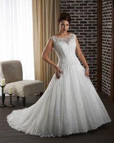 Vestido de novia Apliques Formal largo Espalda medio descubierto Corte-A
