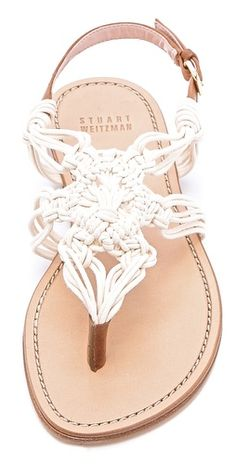 Just bought these. Absolutely love them!! | Stuart Weitzman Alfresco Macrame Sandals |