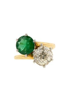 #refinery29  http://www.refinery29.com/55367#slide2  Doyle & Doyle Antique Emerald & Diamond Ring, $23,650, available at Doyle & Doyle.