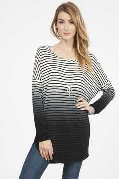 Pre-Order: Striped Ombre Top – ROUTE 32