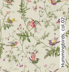 Tapete: Hummingbirds, col.02 - TapetenAgentur