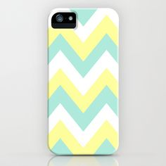 mint and yellow chevron iphone case.
