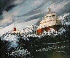 Edmund Fitzgerald  November 10, 1975.  The gales of November came early.