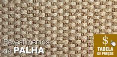 Tecido de palha para decoração de parede (como papel de parede), teto, forro para pergolado, etc. Temos também bambú e outras fibras.