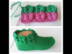 Kelebek Vadisi Farklı Krokodil - YouTube Crochet Hooded Scarf, Crochet Hats, Baby Knitting Patterns, Bandana, Diy And Crafts, Baby Shoes, Slippers, Youtube, Clothes