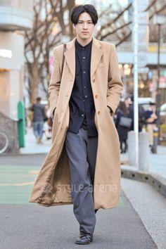 Yuya   GIORGIO ARMANI adidas  COACH GANRYU   3rd week  Feb. 2017   Omotesando   Tokyo Street Style   TOKYO STREET FASHION NEWS   style-arena.jp