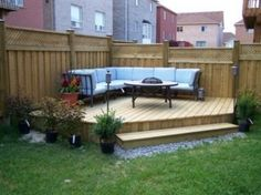 Small Backyard Patio Ideas Patio Ideas for Small Backyards Small Backyard Patio Ideas. Ideas for small backyard patios are endless! Don't be discouraged if your backyard is tiny and you think… Small Yard Landscaping, Cheap Landscaping Ideas, Small Backyard Design, Small Patio, Patio Design, Backyard Designs, Landscaping Software, Small Garden Decking Ideas On A Budget, Hill Landscaping