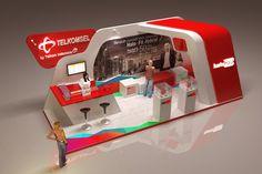 Telkomsel HALO Booth - IIMS 2014 by Danang Soeryanto Mario at Coroflot.com