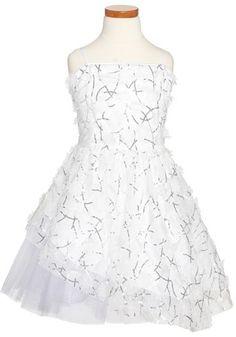 Un Deux Trois Sequin & Appliqué Party Dress (Big Girls)