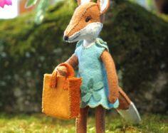 Felt fox pattern