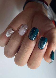 Cute Short Nails, Short Nails Art, Cute Nails, Pretty Nails, Short Gel Nails, Short Square Nails, Pin On, Dream Nails, Beautiful Nail Designs