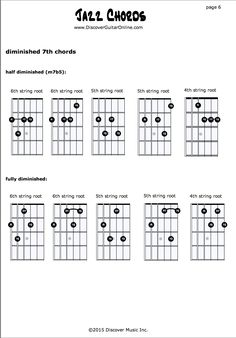 Jazz Chords pg6 | Discover Guitar Online, Learn to Play Guitar