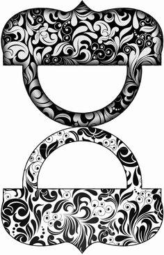 Blanco y Negro: Etiquetas para Candy Bar para Imprimir Gratis. | Ideas y material gratis para fiestas y celebraciones Oh My Fiesta!.Click on link for free printables. http://www.ohmyfiesta.com/2014/08/blanco-y-negro-etiquetas-para-candy-bar.html