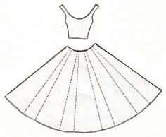 Dress Pattern for paper dress.