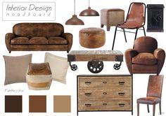 Vintage style #design #vintage #brown #leather
