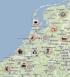 canon van Nederland op Google maps
