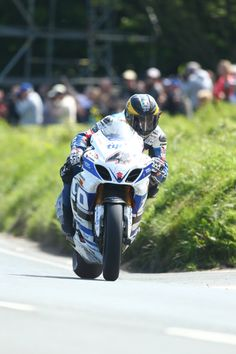 Guy Martin on his Tyco Suzuki GSX-R1000 superbike at the Isle of Man TT, on his way to second place http://www.suzukibulletin.co.uk/martin-second-in-superbike-tt/