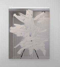 Peter Bonde:  U.T., 2016,  100 x 80 cm, oil on mirrorfoil.