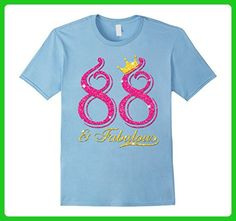 Mens 88th Birthday Women Fabulous Queen Shirt  XL Baby Blue - Birthday shirts (*Amazon Partner-Link)