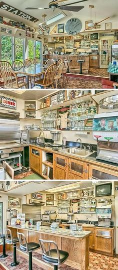 How cool is this 1950s diner kitchen? The milkshakes, the classic bar stools, the greasy burgers—diners exude a classic cool. How awesome would it be to have this in your home?