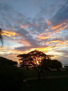 Pôr do sol no Guaíba, parque Marinha do Brasil