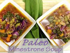 """Holly-Would-If-She-Could's """"Paleo Minestrone Soup."""" I've always liked minestrone, but not garbanzo beans. I intend to try this recipe soon. (dairy free, gluten free)"""