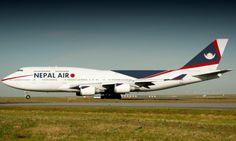 Royal Nepal Airlines-747-400 at Heathrow London