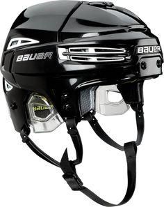 Bauer Re-Akt 75 Hockey Helmet - Black/White: Black with White Inserts Youth Hockey, Women's Hockey, Hockey Helmet, Tactical Survival, Big Time Rush, Bicycle Helmet, Black And White, Sports, Helmets