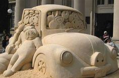 Pug Bug~Amazing Sand Art!!!