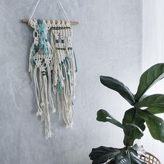 """6 Likes, 2 Comments - Macrame Weaves ✖️Workshops (@macandmoredecor) on Instagram: """"w h i t e w a t e r ✖ only one left, online now #perthigers #macramelove #macramewallhanging #maker"""""""