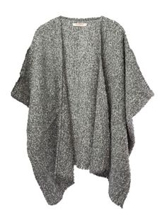 Cuyana Alpaca Textured Boucle Cape, $120; cuyana.com   Cuyana focuses on fewer, better things–sourcing high quality pieces from around the world and challenging customers to live with less. With every purchase, you have the option to donate unwanted items from your wardrobe to Cuyana's non-profit partners.
