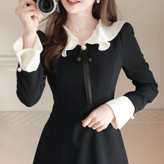 KOODING, a Korean fashion online shopping website, offers womens Korean fit & flare dress for sale. Shop for Korean style womens fit & flare dresses online. Dresses For Sale, Dresses Online, Girls Dresses, Fit N Flare Dress, Fit And Flare, Kawaii Clothes, Kawaii Outfit, Korean Dress, Lovely Dresses