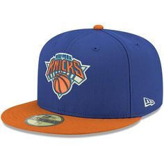 New York Knicks New Era 2Tone 59FIFTY Fitted Hat - Blue cb995ac8d3f