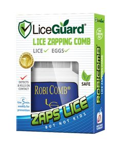 LiceGuard RobiComb Lice Zapping Comb Box- Just in case... eww