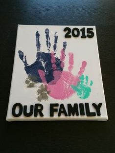 DIY Family Handprints & Pawprints on Canvas. Simple & easy project! Check out my blog for the details :) by loretta