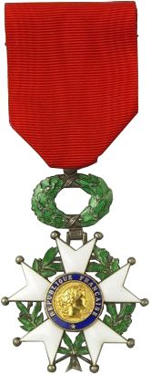 Chevalier légion d'honneur, a high military honor of the French. 'Chevalier' means knight. Donald Malarkey was awarded this medal.