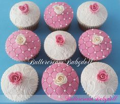 Lace, Pearls & Roses Cupcakes