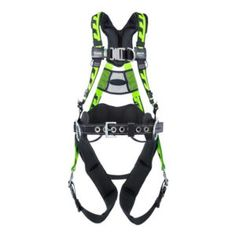 The AirCore Tower Climbing Harness is designed for construction and utility industries and features front and side D-rings, removable belt, and tongue buckle leg straps in addition to AirCore's famous breathable padding, and quick-connect chest strap.
